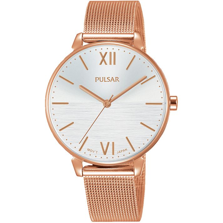best watches for mothers day: rose gold pulsar watch