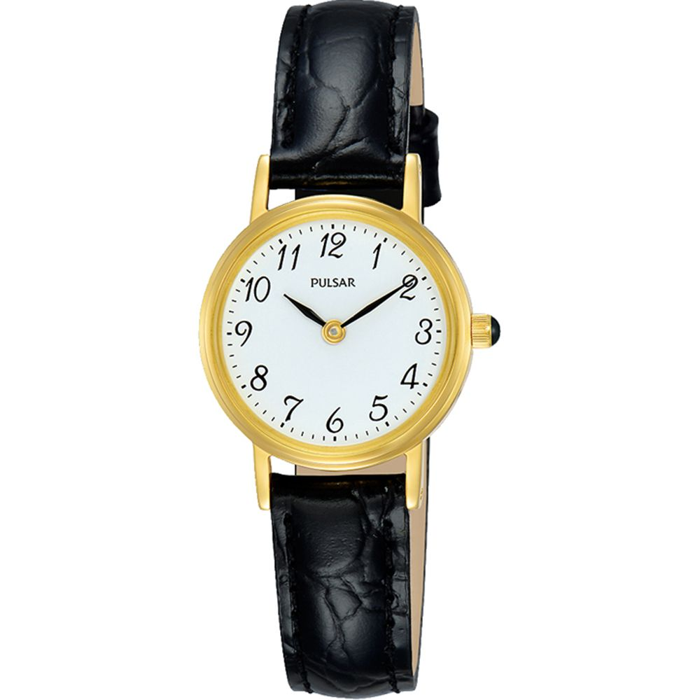 are pulsar watches good: leather women's watch