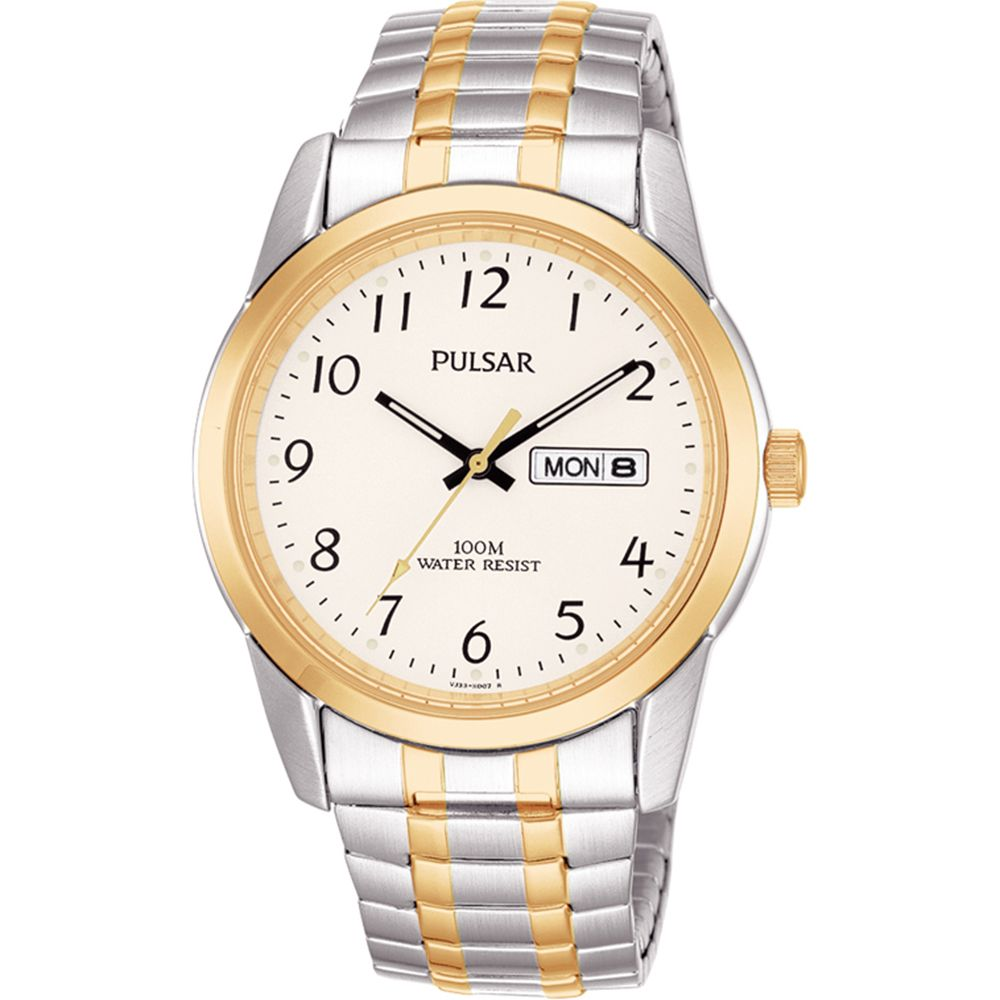 are pulsar watches good: silver/gold mens watch
