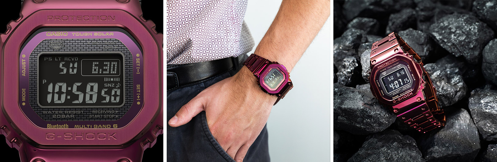 GMWB5000RD-4D from our best g-shock square watches for daily wearing