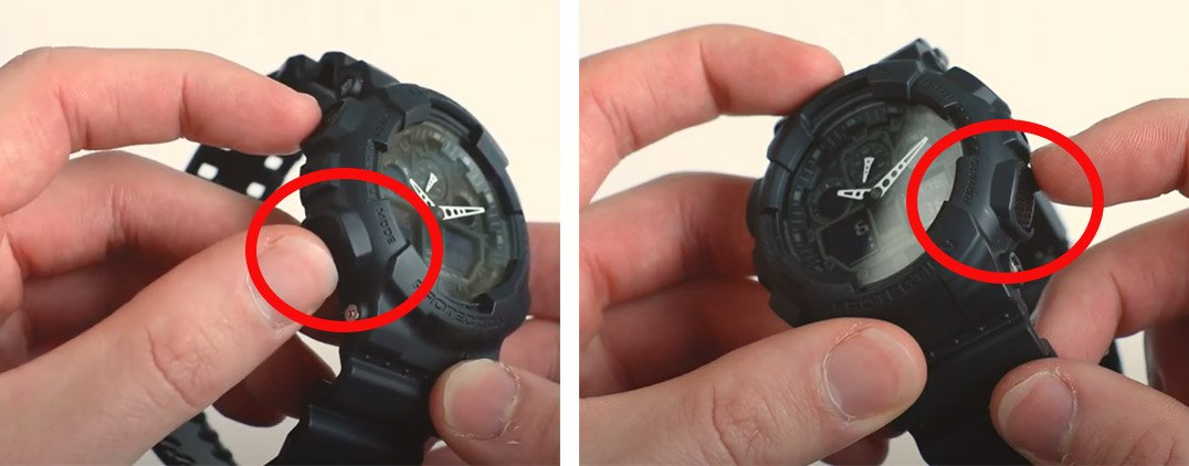 how to change time on g-shock bottom buttons