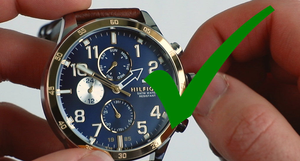 how to change the time on a tommy hilfiger watch steps