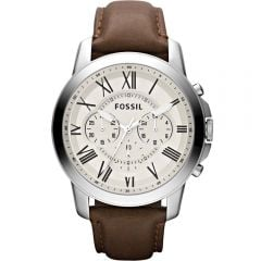 Fossil 'Grant' FS4735 Brown Leather Strap Mens Watch