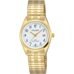 Pulsar PH7444X Gold Tone Stretch Bracelet Womens Watch