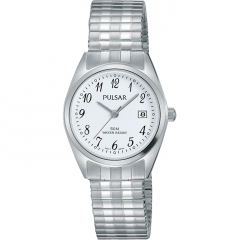 Pulsar PH7443X Silver Tone Stretch Bracelet Womens Watch