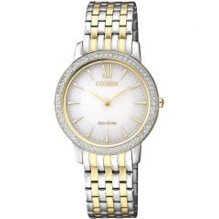 Citizen Eco-Drive EX1484-81A Stone Set Womens Watch