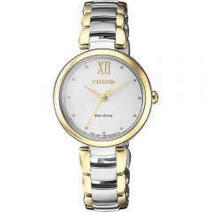 Citizen Eco Drive EM0534-80A Ladies Two Tone Watch