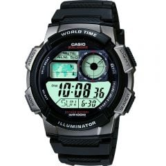 Casio AE1000W-1B World Time Mens Watch
