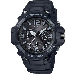 Casio Mens Watch CHRON ANALOG 100M BLK