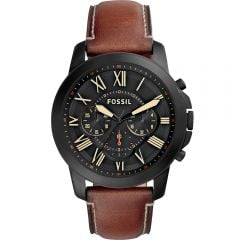 Fossil 'Grant' FS5241 Chronograph Brown Leather Mens Watch