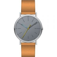 Skagen SKW6373 'Signatur' Tan Strap Mens Watch