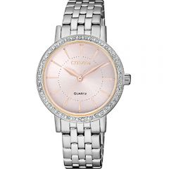 Citizen EL304187X Swarovski Crystals Stainless Steel Womens Watch