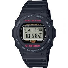 Casio G-Shock Alarm DW5750E-1D 200M Black Mens Watch