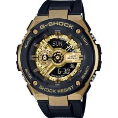 G Shock GSTS400G-1A9 Black and Gold Digital Mens Watch