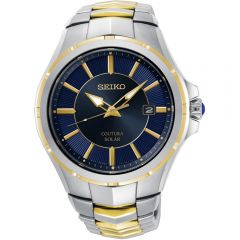 Seiko Coutura SNE514P Two Tone Stainless Steel Solar Mens Watch