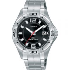 Pulsar PXHA67X Stainless Steel Mens Work Watch