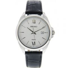 Seiko SUR283P Stainless Steel And Leather Mens Watch