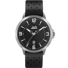 Jag Archie J2180 Black Leather Mens Watch