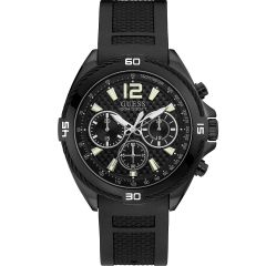 Guess Surge W1168G2 Black Silicone Mens Watch