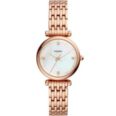 Fossil Carlie Mini ES4429 Rose Stainless Steel Womens Watch
