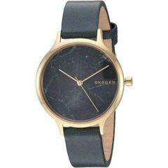 Skagen Anita SKW2720 Green Leather Womens Watch