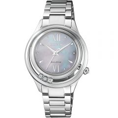 Citizen Eco Drive EM0510-88D Diamond Set Stainless Steel Womens Watch