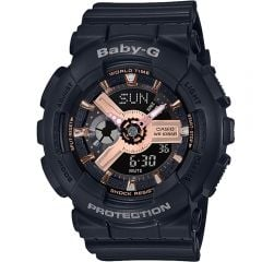Baby-G BA110RG-1AR Black Resin Womens Watch