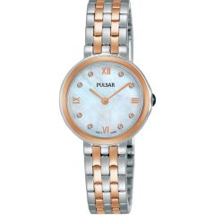 Pulsar PM2246X Stainless Steel Rose Gold Plated Womens Watch