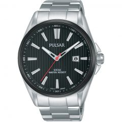 Pulsar PS9605X Silver Stainless Steel Mens Watch