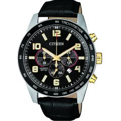 Citizen AN8166-05E Black Leather Mens Watch