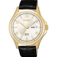 Citizen BF2003-25A Black Leather Mens Watch