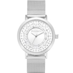 Ellis & Co Kendall Silver Stainless Steel Womens Watch