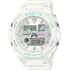 Baby-G G-Lide BAX-100-7ADR White Resin Womens Watch