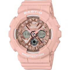 Casio Baby-G BA-130-4ADR Pink Resin Womens Watch