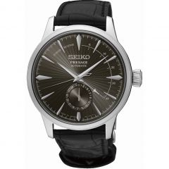 Seiko Presage SSA345J Black Leather Cocktail Time Mens Watch