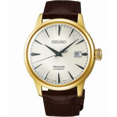 Seiko Presage SRPB44J Brown Leather Mens Watch