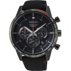 Seiko SSB359P Black Nylon Mens Watch