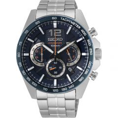 Seiko SSB345P Silver Stainless Steel Mens Watch