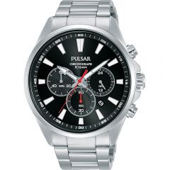EXCLUSIVE Pulsar PT3A39X Chronograph Stainless Steel Mens Watch