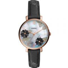 Fossil Jacqueline ES4535 Black Leather Womens Watch