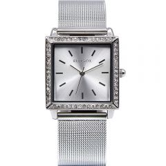 Ellis & Co Jayde Stone Set Stainless Steel Womens Watch
