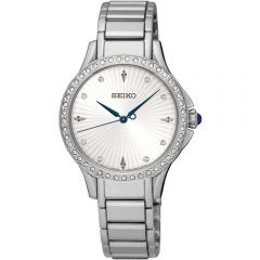 Seiko SRZ485P1 Swarovski Crystals Stainless Steel Womens Watch