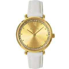 Ellis & Co Stella White Leather Womens Watch