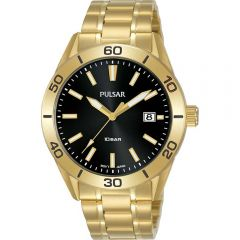 Pulsar PS9648X Gold Stainless Steel Mens Watch