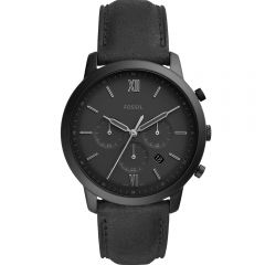 Fossil Neutra Chrono Black Leather Mens Watch