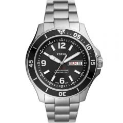 Fossil FS5687 FB-02 Day & Date Stainless Steel Mens Watch