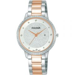 Pulsar COP9124 Swarovski Crystals Womens Watch