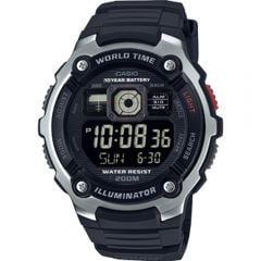 Casio AE2000W-1B Digital Silver Black Mens Watch