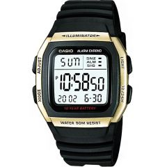 Casio W96H-9A Digital Gold and Black Mens Watch