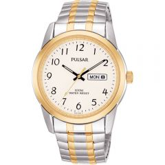 Pulsar PJ6052X Gold/ Silver Mens Watch